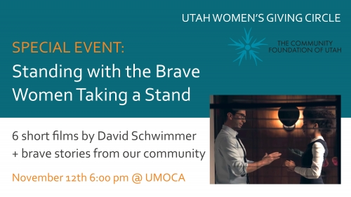 Utah Women's Giving Circle Fall Event:  Standing with the Brave Women Taking a Stand